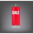 Sale banner red advertising stand vector