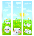 Banners with sheeps vector