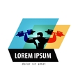 Gym logo design template fitness or vector