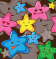 Star smiles seamless background vector