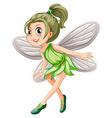 Green fairy vector
