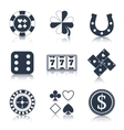 Casino black design elements vector