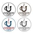 Cowboy cafe concept vector