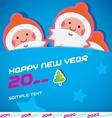 Merry christmas santa claus  new year card vector