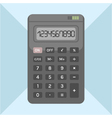 Flat calculator on background object for design vector