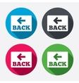 Arrow sign icon back button navigation symbol vector