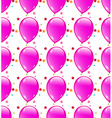 Seamless background with party balloons of pink vector