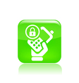 Lock phone icon vector