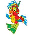 Parrot diver vector