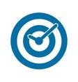 Blue target conceptual clock icon vector
