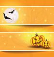 Halloween background on the postcard vector