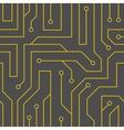 Black circuit board background vector