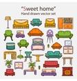 Sweet home set vector