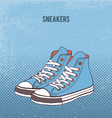 Pair of sneakers vector