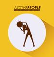 Fitness design vector