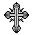 Decorative cross vector