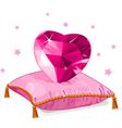 Ruby heart vector