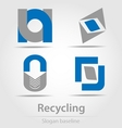 Originally designed recycling business icon vector