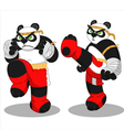 Panda muay thai vector