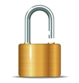 Open padlocks vector
