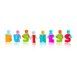 Business colorful title with paper people vector