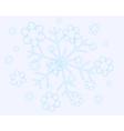 Abstract christmas snow flakes vector
