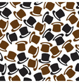 Black and brown hat pattern eps10 vector