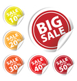 Bigsale circle sale up to 10 to 50 percent vector