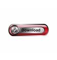 Download icon button red vector