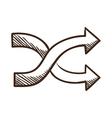 Crossed arrows vector