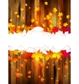 Maple leaves on wooden background plus eps10 vector