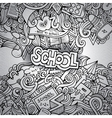 Cartoon doodles hand drawn school vector