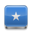 Metal icon of somalia vector