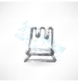 Chess grunge icon vector