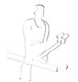 Exercise on the uneven bars vector
