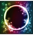 Glowing round frame vector