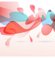 Abstract red liquid elements design background vector