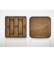 Wooden app icons vector