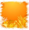 Nature floral frame vector