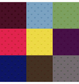 Set of seamless polka dot patterns vector