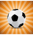 Football ball on orange retro background vector