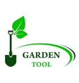 Garden background with shovel vector