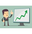 Businessman presenting business growth chart vector
