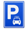 Blue parking sign vector