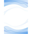 Blue swoosh abstract wave line folder concept vector