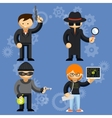 Characters involved in criminal activities vector
