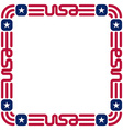 Frame with usa flag colors and symbols for vector