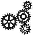 Growing gears icon vector
