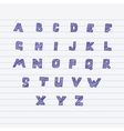 Sketchnote alphabet vector