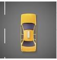 Yellow car taxi top view vector